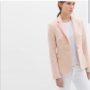 Zara Velour Pink Blazer